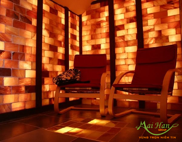 Đá muối Himalaya trong thiết kế nội thất
