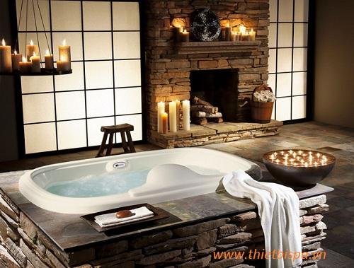 Thiết kế phóng tắm spa độc đáo và gây được ấn tượng