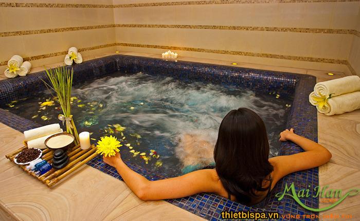 Thư giãn trong bồn massage