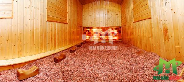 Muối ủ Himalaya sử dụng trải sản phòng xông hơi