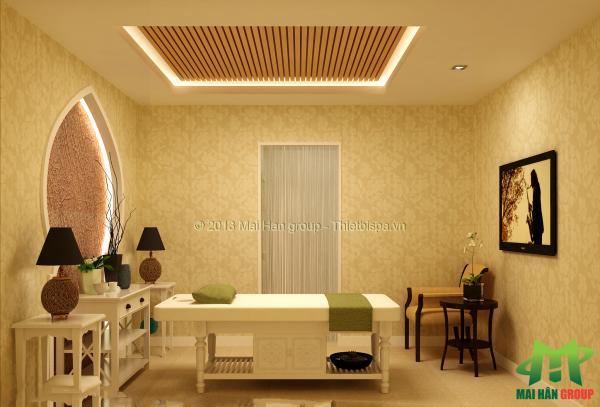 Phòng massage mỹ phẩm  cao cấp Ngọc My do Mai Hân Group thiết kế, thi công