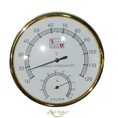 Phụ kiện nào giúp phòng xông hơi thêm hoàn mỹ và an toàn: đồng hồ