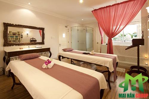 Phòng massage body chuẩn 4 sao tại Lá spa