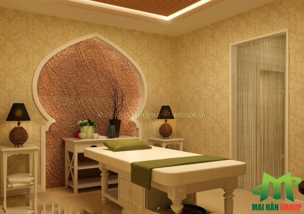 Phòng massage 2 mỹ phẩm  cao cấp Ngọc My do Mai Hân Group thiết kế, thi công