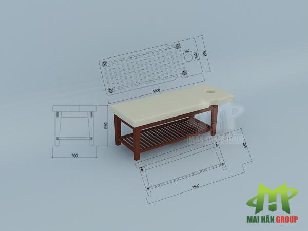 Giường massage sản xuất bởi Mai Hân Group: Sản phẩm hoàn hảo từ thiết kế đến thực tế!