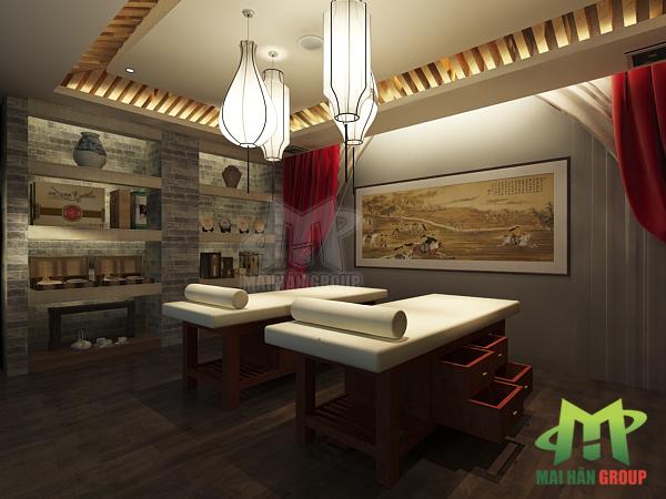Giường massage sản xuất bởi Mai Hân Group còn luôn được trú trọng yếu tố tiện nghi và tiện dụng