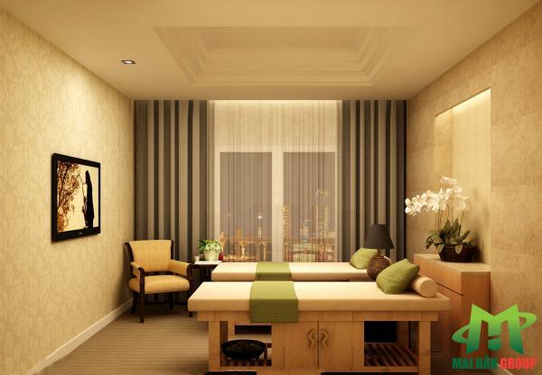 Phòng massage 3 mỹ phẩm  cao cấp Ngọc Mỹ do Mai Hân Group thiết kế, thi công