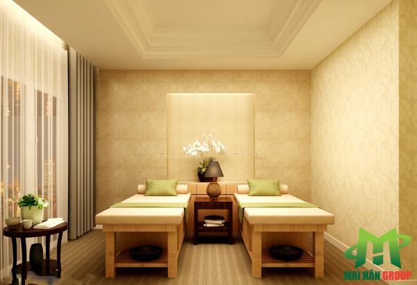 Nội thất phòng massage 3 mỹ phẩm  cao cấp Ngọc Mỹ do Mai Hân Group thiết kế, thi công