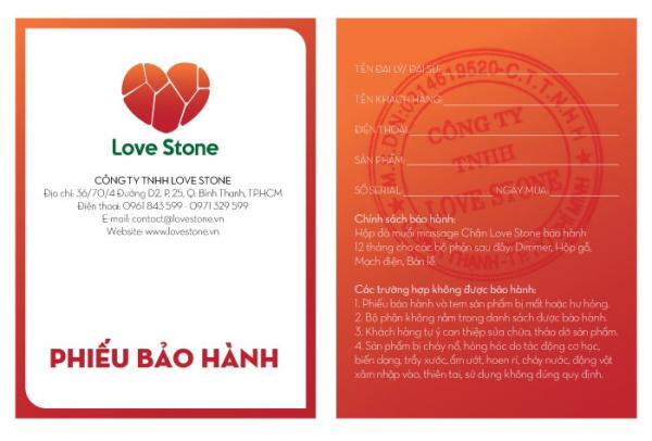 Công bố bộ quy chuẩn hàng chính hãng Love Stone