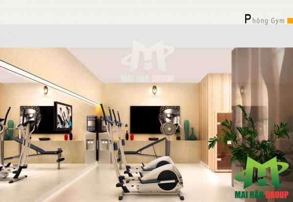 Bản vẽ thiết kế phòng Gym do Mai Hân Group thực hiện