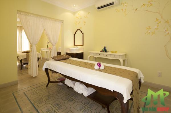 Phòng massage facal chuẩn 4 sao tại Lá spa