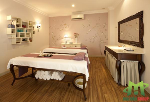 Phòng massage tại lá spa do Mai Hân  Group thiết kế, thi công và cung cấp thiết bị