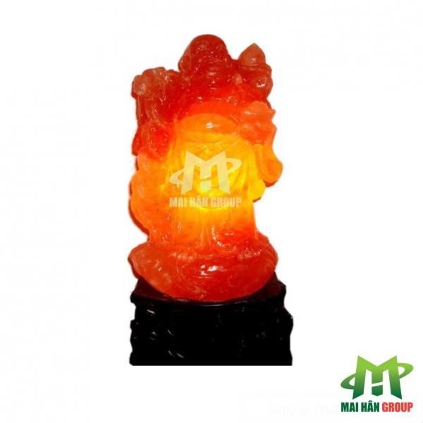 Đèn đá muối hình tượng Phật Di Lặc đứng
