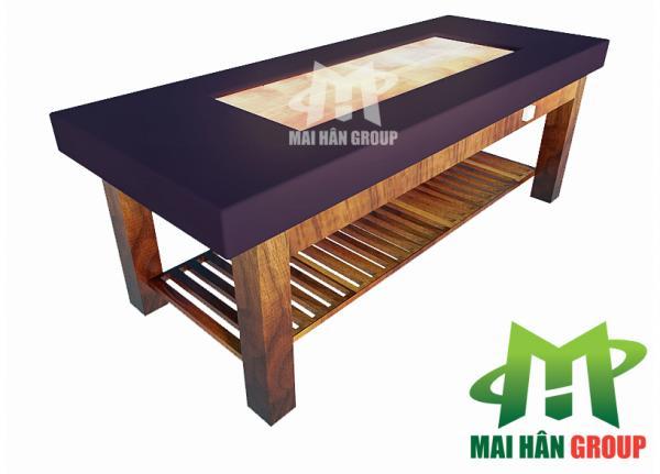 Giường thư giãn đá muối Himalaya MS 01 do Mai Hân sản xuất và phân phối