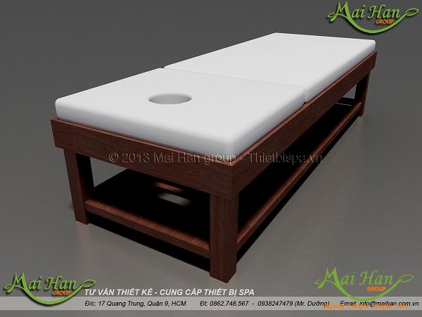 Biến tấu với gỗ để tăng thêm sự sang trọng cho spa: giường massage gỗ