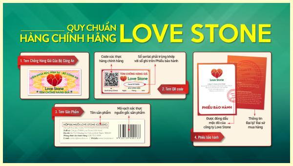 Sản phẩm  nhái, làm giả Love Stone đang xuất hiện trên thị trường