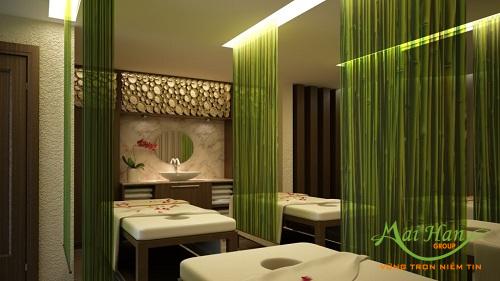 Màu sắc bài trí trong cách thiết kế spa với không gian nhỏ