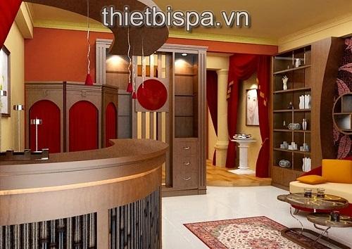 Màu đỏ – 1 trong 5 màu sắc đặc trưng của thiết kế nội thất thẩm mỹ viện