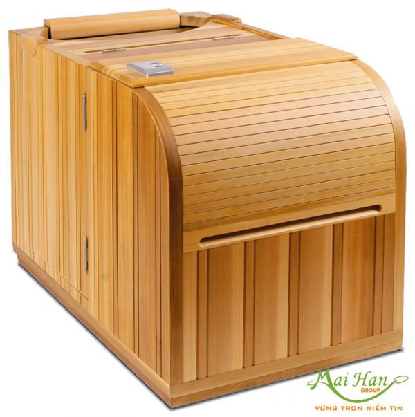 Xông hơi tại nhà với phòng xông hơi cá nhân cao cấp bằng gỗ