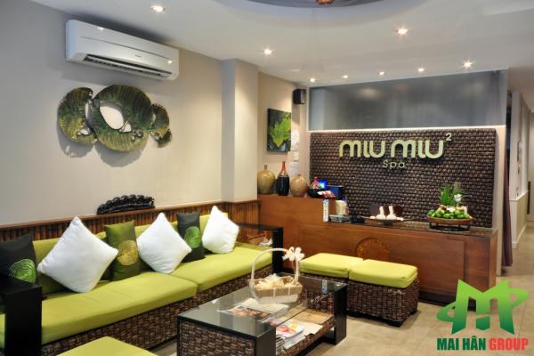 Phòng tiếp tân Miu Miu Spa