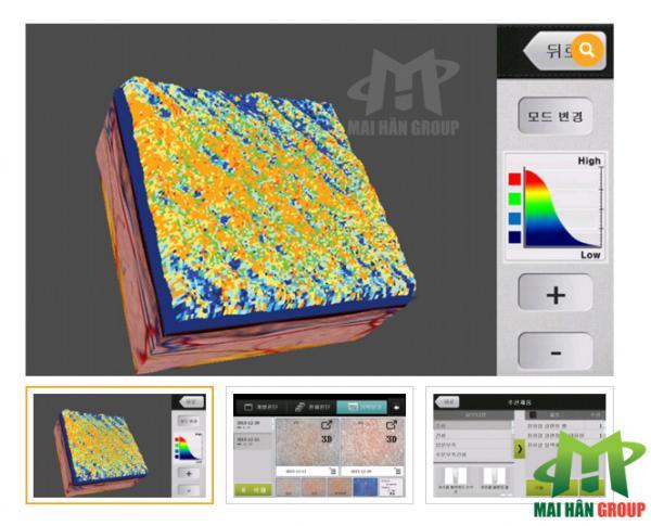 Máy soi phân tích da cầm tay LCD thế hệ 2016 cho kết quả bằng hình ảnh 3 chiều chính xác tuyệt đối