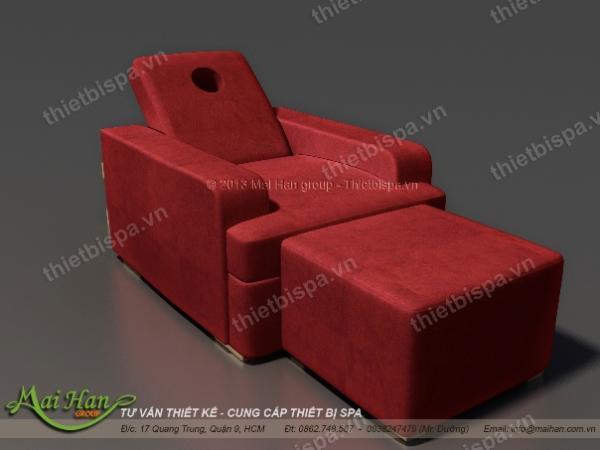 Ghế thư giãn, màu đỏ boocdo