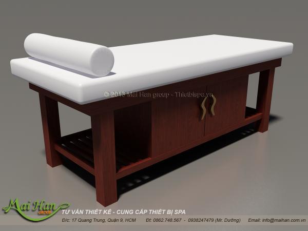 giường massage chân gỗ