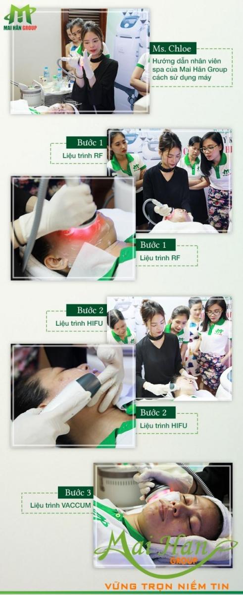 Mai Hân Group tiếp nhận công nghệ spa HIFU - RF - VACUUM số 1 Hàn Quốc