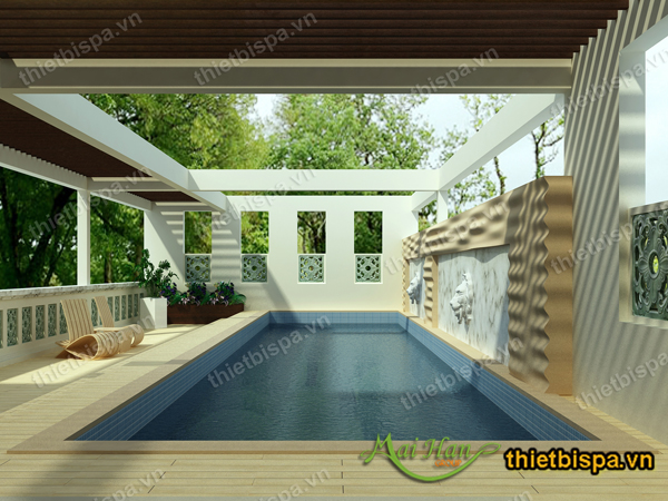 thiết kế spa bể bơi