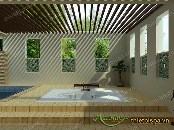 Thiết kế spa bồn massage jacuzzi