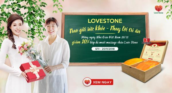 Mừng ngày nhà giáo Việt Nam 20-11: Love Stone Trao gửi sức khỏe - Thay lời Tri ân