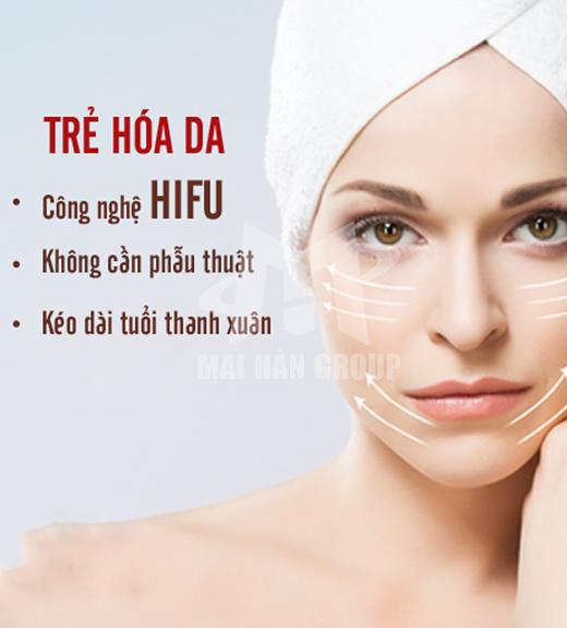 Nâng cơ, xóa nhăn cho khuôn mặt bằng công nghệ HIFU 2S (3 đầu)