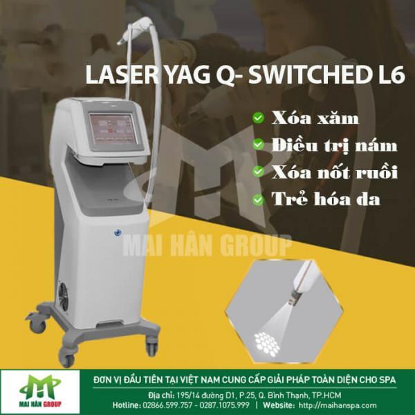 Máy xóa xăm LASER YAG Q-SWICHED L6