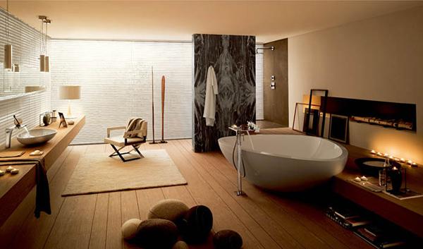 """Một sự thay đổi nhỏ cho phòng tắm """"biến thành"""" spa thư giãn tại nhà"""