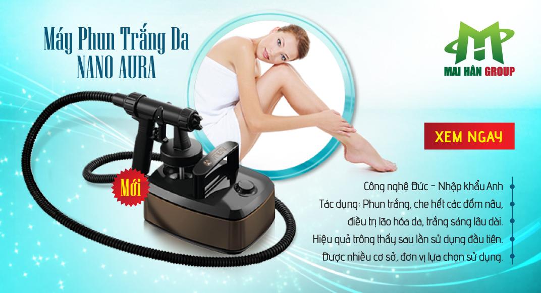 Máy Phun Trắng Da Nano Aura - Anh