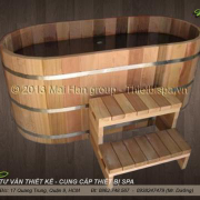 Bồn tắm gỗ MS 09